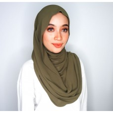 Instant Shawl Embellished (Casual Series) : Olive