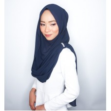 Instant Shawl Embellished (Crystal Series) : Navy Blue