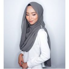 Instant Shawl Embellished (Crystal Series) : Smoke Grey