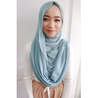 Instant Shawl Embellished (Casual Series) : Blue Lagoon
