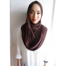 Instant Shawl Embellished (Casual Series) : Chocolate