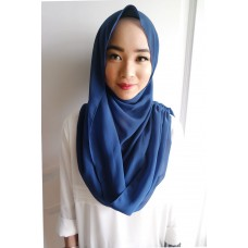 Instant Shawl Embellished (Casual Series) : Sapphire Blue