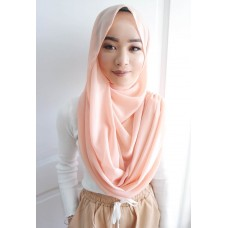 Instant Shawl Embellished (Casual Series) : Peach Purr