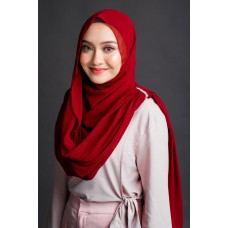 Instant Shawl Embellished (Crystal Series) : Cherry Red