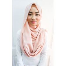 Instant Shawl Embellished (Crystal Series) : Peach Purr