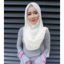 Instant Shawl Embellished (Casual Series) : Fresh cream