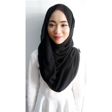 Instant Shawl Embellished (Crystal Series) : Black widow