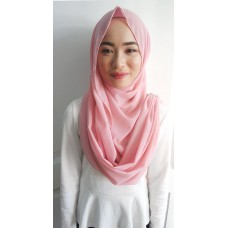Instant Shawl Embellished (Crystal Series) : Dusty Pink