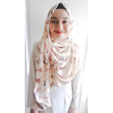 Instant shawl Fleur (Print: Feathery vibes)