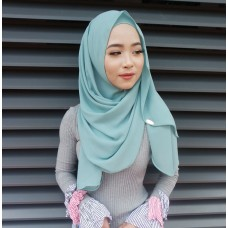 Instant shawl Luxe V2 (Mermaid's Tale Green)