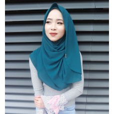 Instant shawl Luxe V2 (Emerald Green)