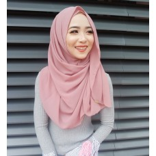 Instant shawl Luxe V2 (Mauve Pink)