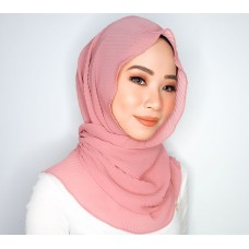 Chloe Semi Instant Shawl (Pleated Chiffon - Smokey Rose)