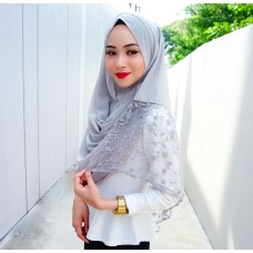 Instant shawl Rania (Lace floral series: Earl Grey)