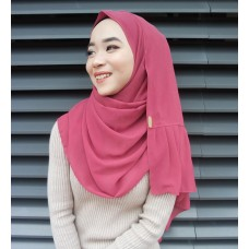 Instant Shawl Rania (Casual Series: Pink Bow)