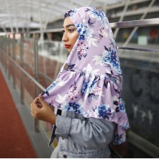 Instant Shawl Rania (Printed Series: Aesha in Lavender)
