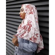Instant Shawl Rania (Printed Series: Aira in Rosy brown)