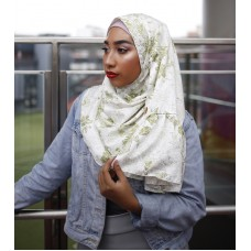 Instant Shawl Rania (Printed Series: Aira in Olive Green)