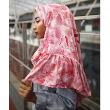 Instant Shawl Rania (Printed Series: Anisa in red)