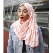 Instant Shawl Rania (Printed Series: Anisa in Pastel Peach)