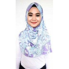 Instant Shawl Rania (Abstract Batik Pastel Blue)