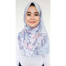 Instant Shawl Rania (Abstract Batik Pastel Grey)