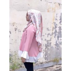 Instant Shawl Rania (Abstract Batik Pastel Pink)