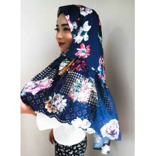 Instant Shawl Rania (Flora Midnight Blue)