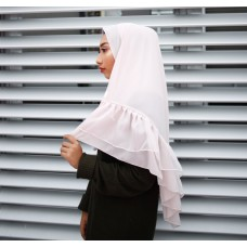 Instant shawl Rania (Organza Series: Ivory pink)
