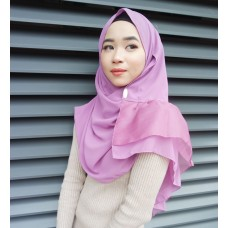 Instant shawl Rania (Organza Series: Raspberry Mousse)