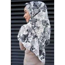 Instant Shawl Rania (Printed Series: Aira in Black)