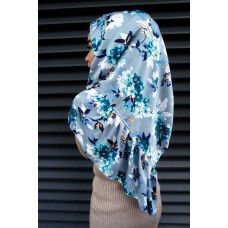 Instant Shawl Rania (Printed Series: Aesha in Blue)
